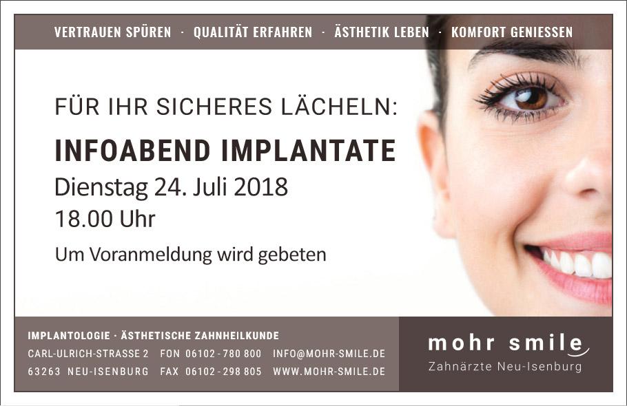 2018-07 zahnarztpraxis mohr-smile Implantologiesprechstunde