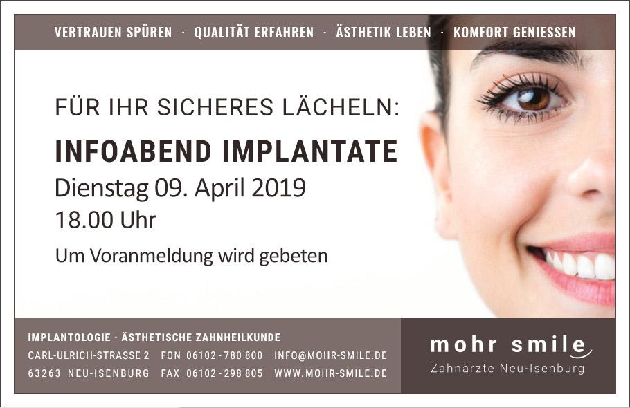2019-04 Zahnarztpraxis mohr smile Implantologiesprechstunde