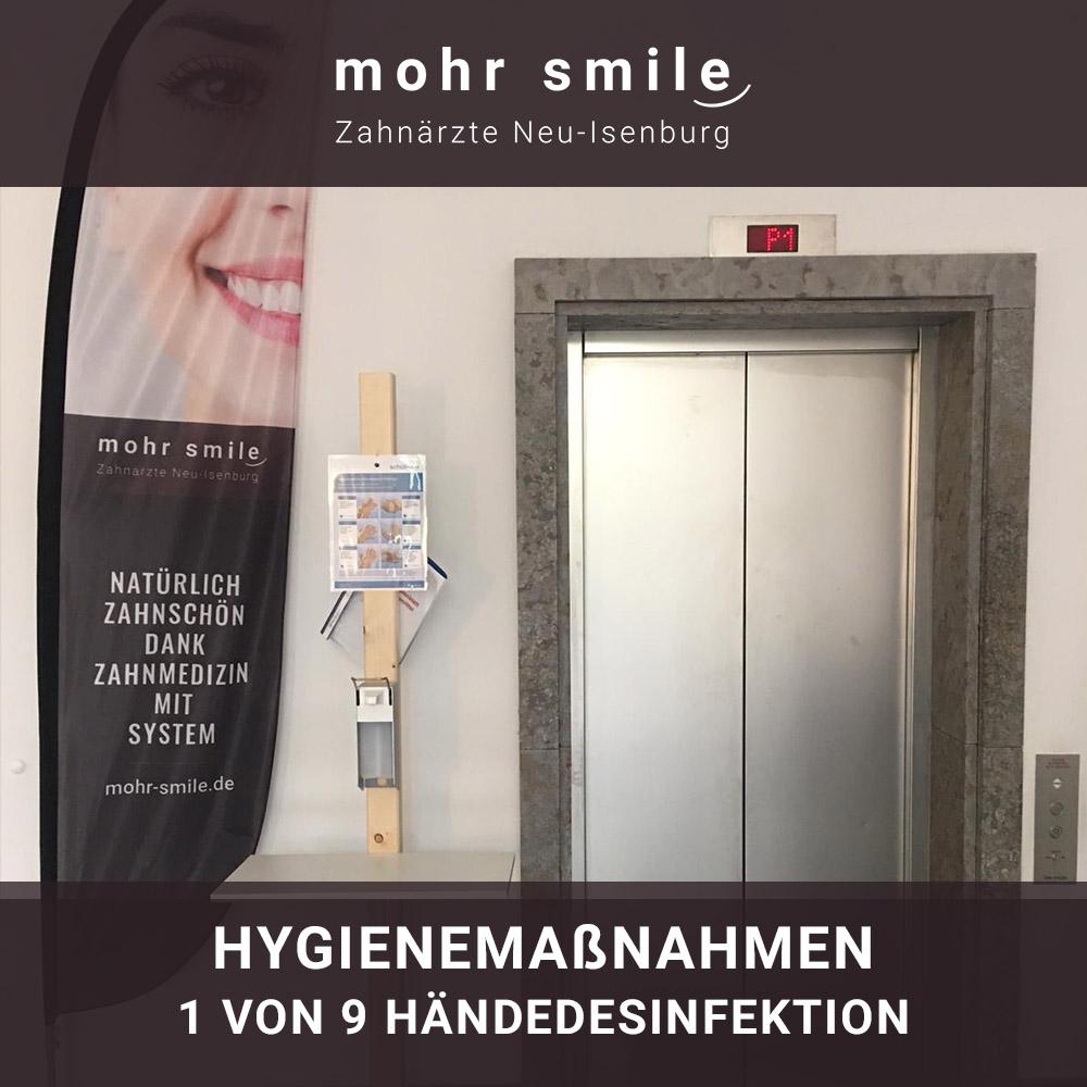 mohr smile - Hygienemaßnahmen 1 von 9 Händedesinfektion