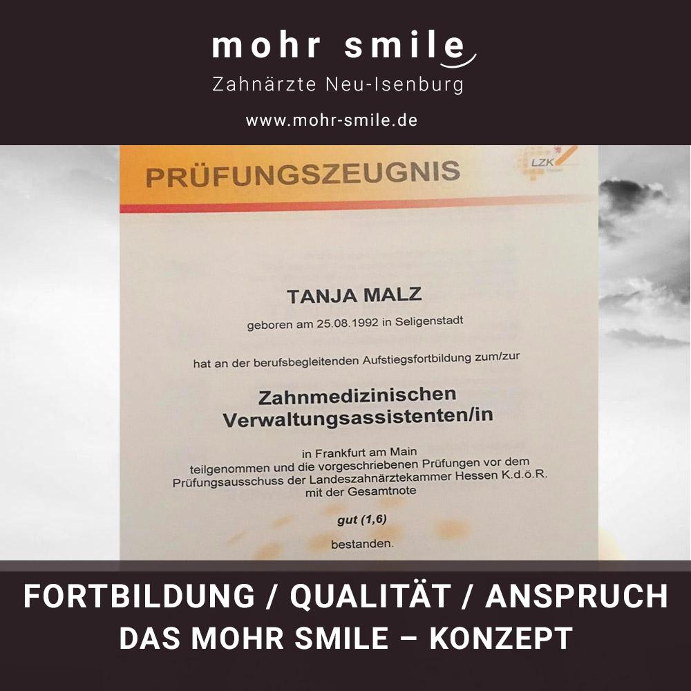 Fortbildung - Qualität und Anspruch - Zahnarztpraxis mohr smile