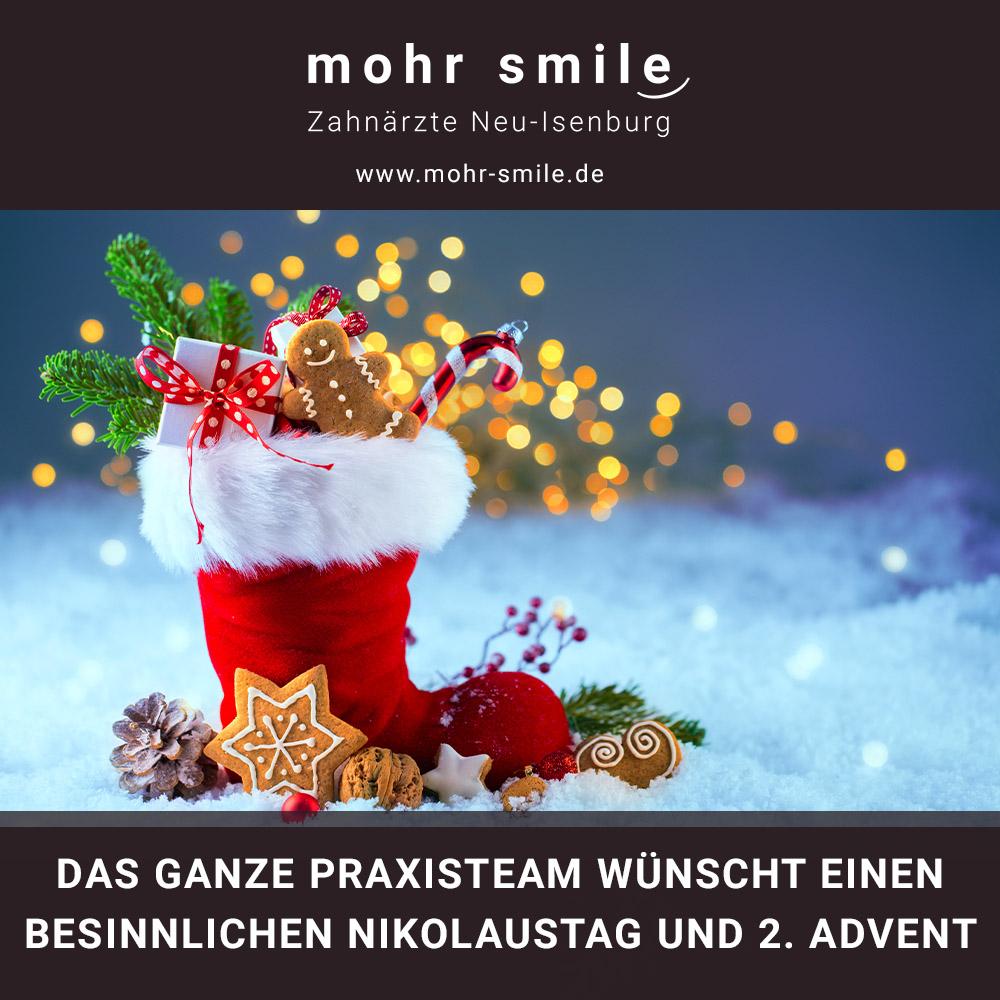 2020-12 Nikolaustag und 2. Advent - Zahnarztpraxis Neu-Isenburg