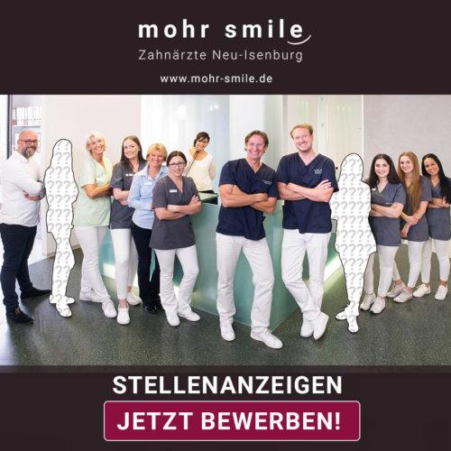 Stellenanzeigen Zahnarztpraxis mohrsmile