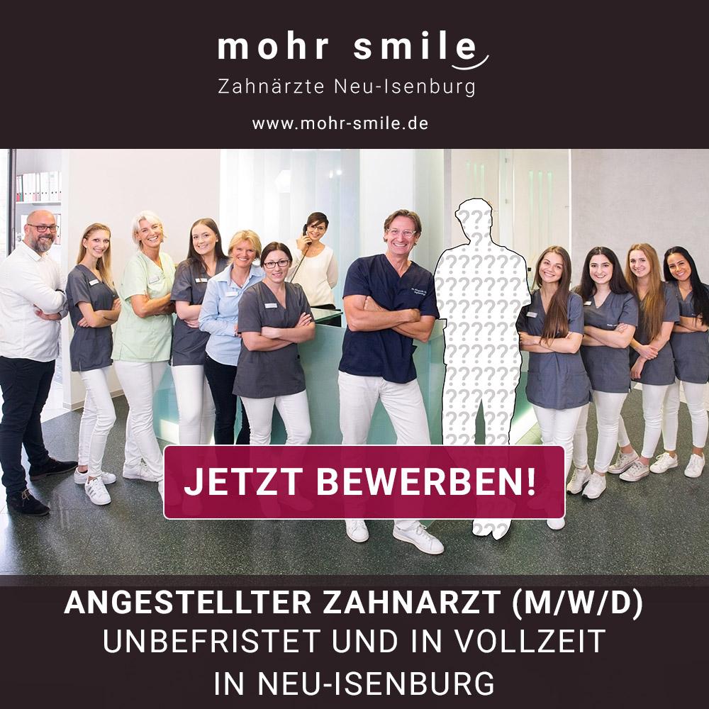 2021-01 Zahnarzt Stellenanzeige - mohrsmile