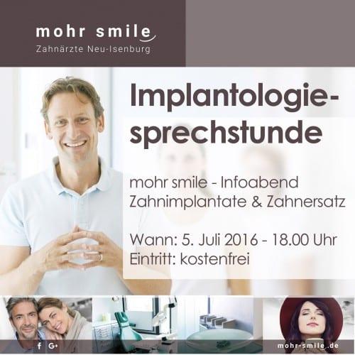 Implantologie Sprechstunde - Zahnarztpraxis Mohr Smile in Neu-Isenburg