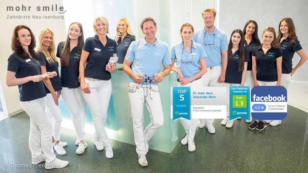 Zahnarztpraxis - mohr-smile - Neu-Isenburg 2017 Praxisteam